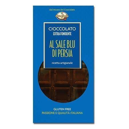 Tavoletta di cioccolato al sale blu di Persia 100 g