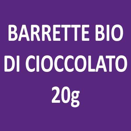 BARRETTE BIO DI CIOCCOLATO 20g